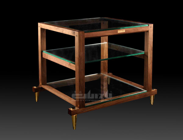 WUBP-3A(Triple shelves with decorative metal legs and glasses(WUBP-3A))