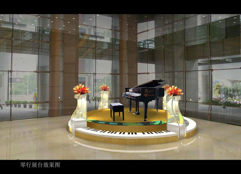 钢琴行展示设计